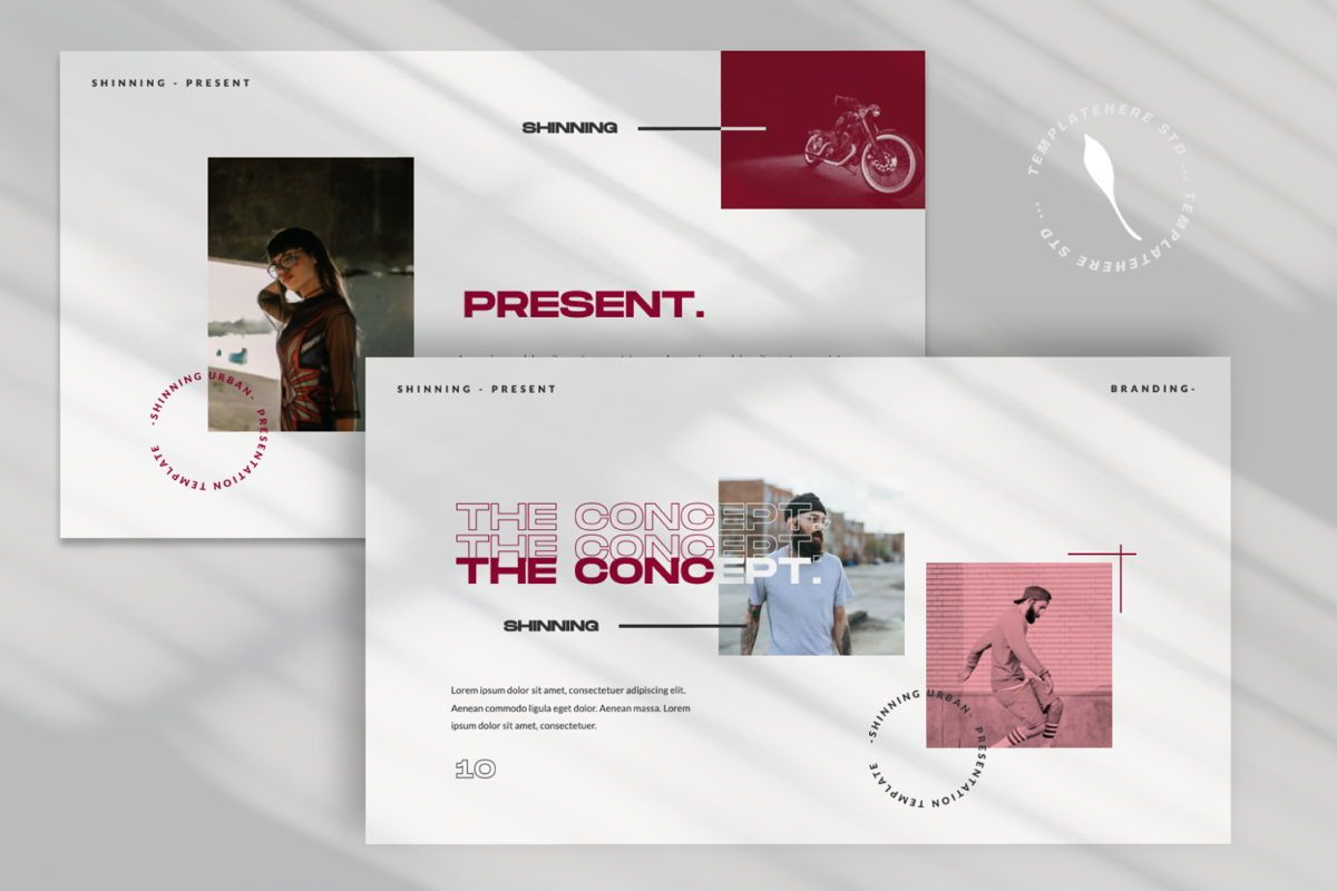 Shinning Creative Keynote, Slide 5, 06035, Presentation Templates — PoweredTemplate.com