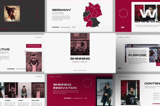 Presentation Templates: Shinning Creative Google Slide #06036