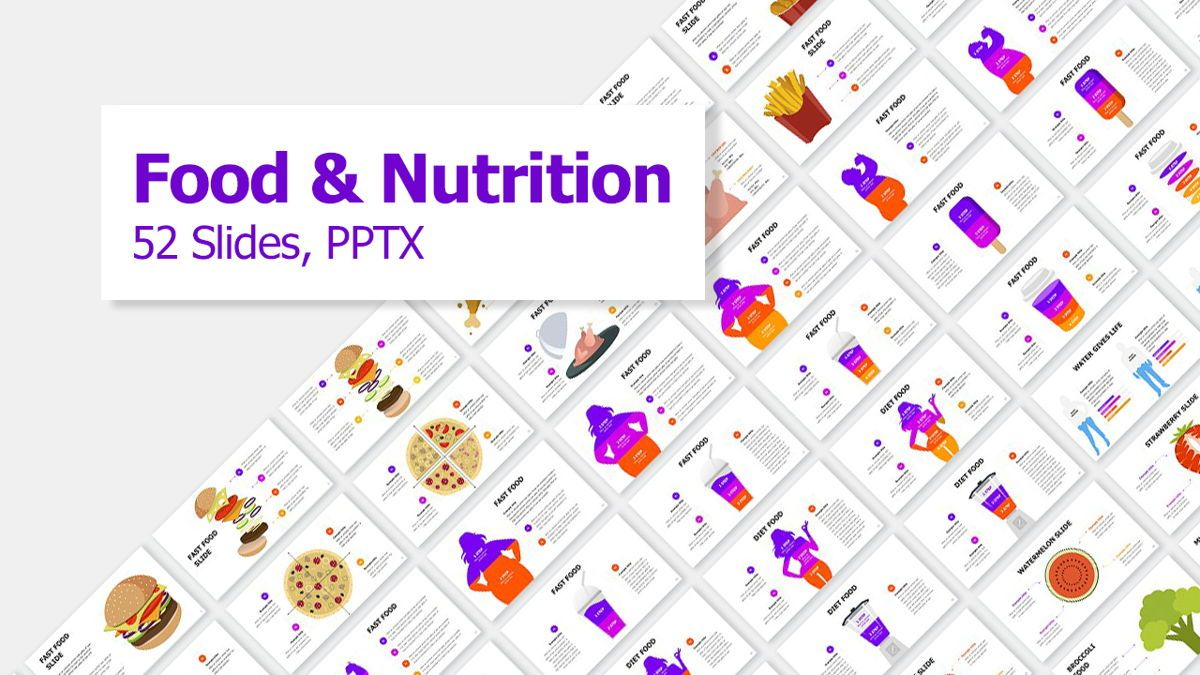 Food and Nutrition Presentation Infographics, 06037, Infographics — PoweredTemplate.com