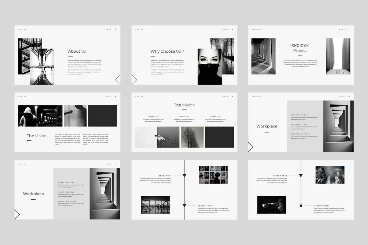 Skripxy Creative Powerpoint, Slide 2, 06038, Presentation Templates — PoweredTemplate.com