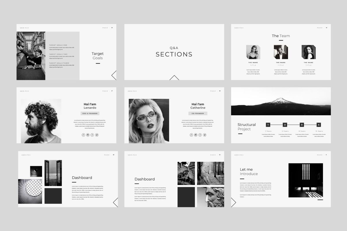 Skripxy Creative Powerpoint, Slide 3, 06038, Presentation Templates — PoweredTemplate.com