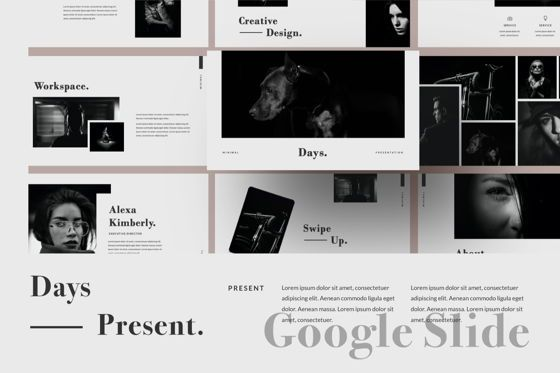Presentation Templates: Days Creative Google Slide #06042