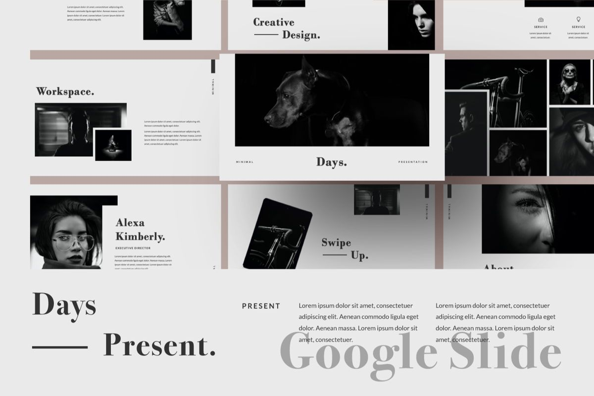 Days Creative Google Slide, 06042, Presentation Templates — PoweredTemplate.com