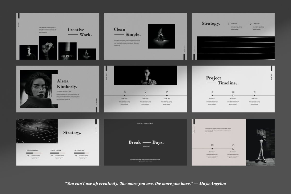 Days Creative Google Slide, Slide 4, 06042, Presentation Templates — PoweredTemplate.com