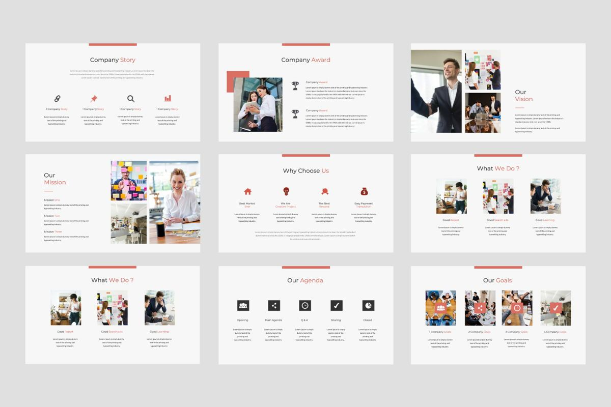 Strikethrough Business Powerpoint, Slide 2, 06043, Presentation Templates — PoweredTemplate.com
