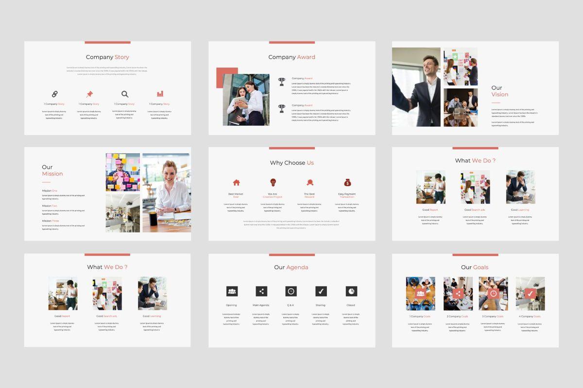 Strikethrough Business Google Slide, Slide 2, 06044, Presentation Templates — PoweredTemplate.com