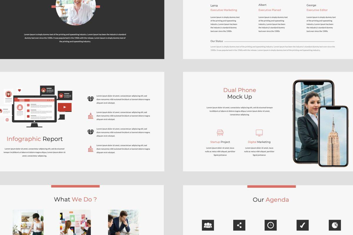 Strikethrough Business Google Slide, Slide 5, 06044, Presentation Templates — PoweredTemplate.com