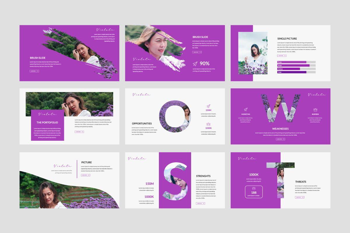 Violeta Creative Powerpoint, Slide 4, 06046, Presentation Templates — PoweredTemplate.com