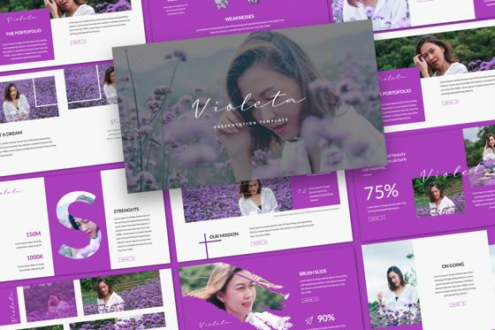 Presentation Templates: Violeta Creative Google Slide #06048