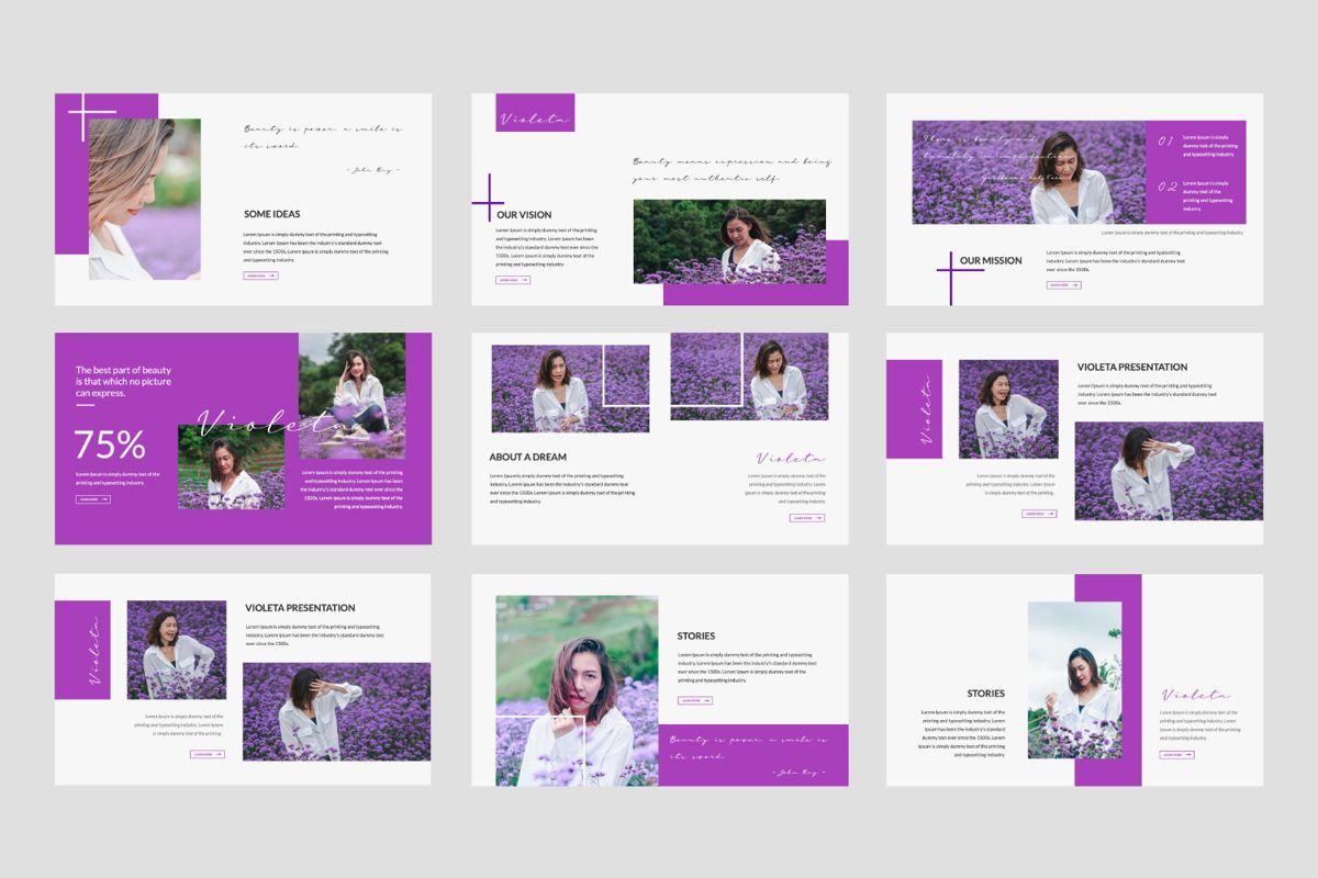 Violeta Creative Google Slide, Slide 2, 06048, Presentation Templates — PoweredTemplate.com
