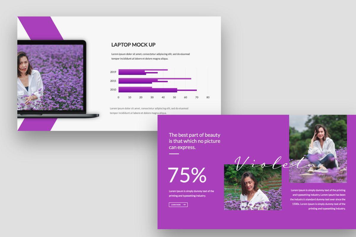 Violeta Creative Google Slide, Slide 6, 06048, Presentation Templates — PoweredTemplate.com