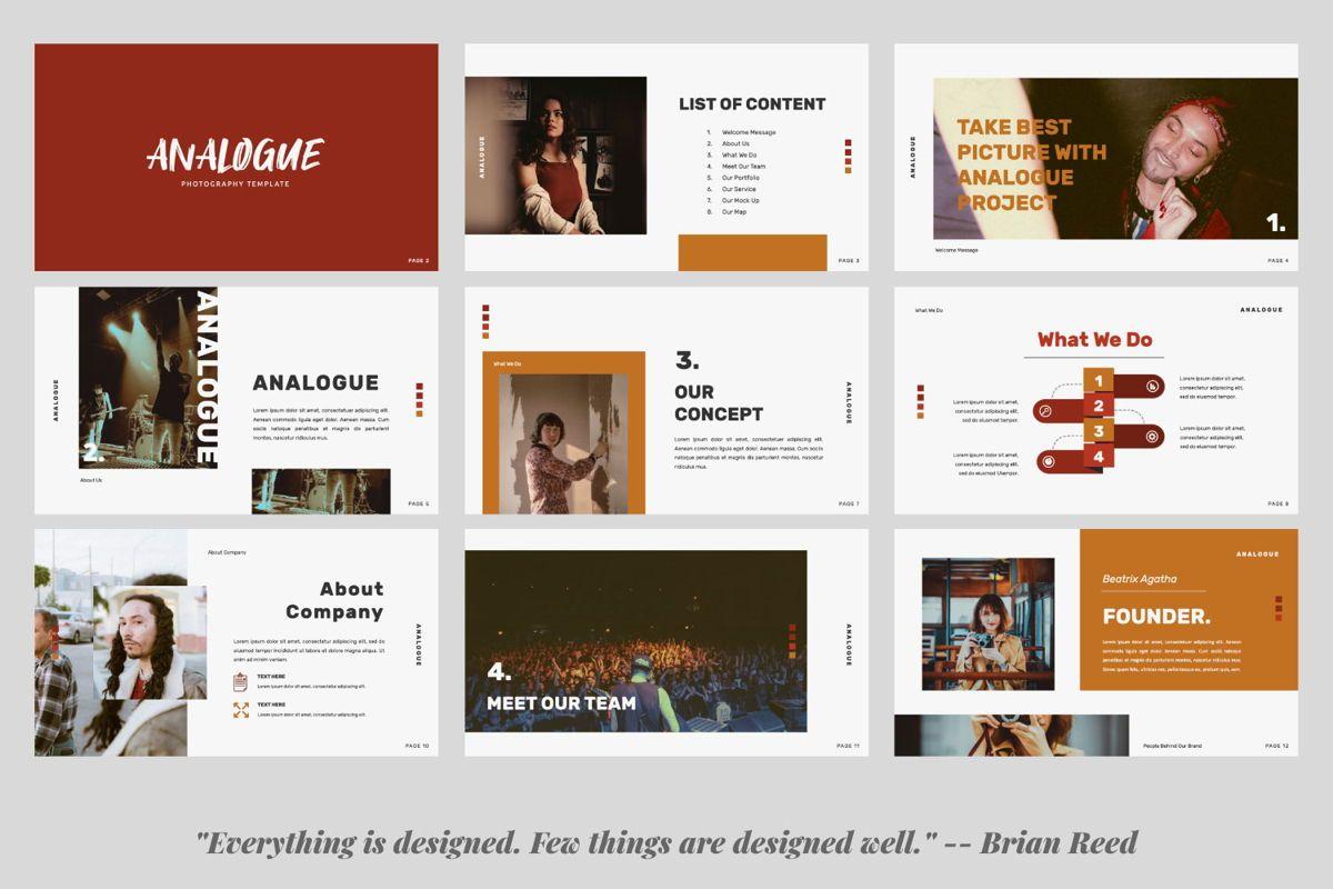 Analogue Brand Google Slide, Slide 2, 06049, Presentation Templates — PoweredTemplate.com