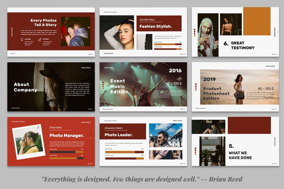 Analogue Brand Google Slide, Slide 4, 06049, Presentation Templates — PoweredTemplate.com