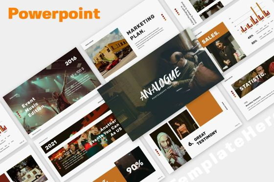 Presentation Templates: Analogue Brand Powerpoint #06051