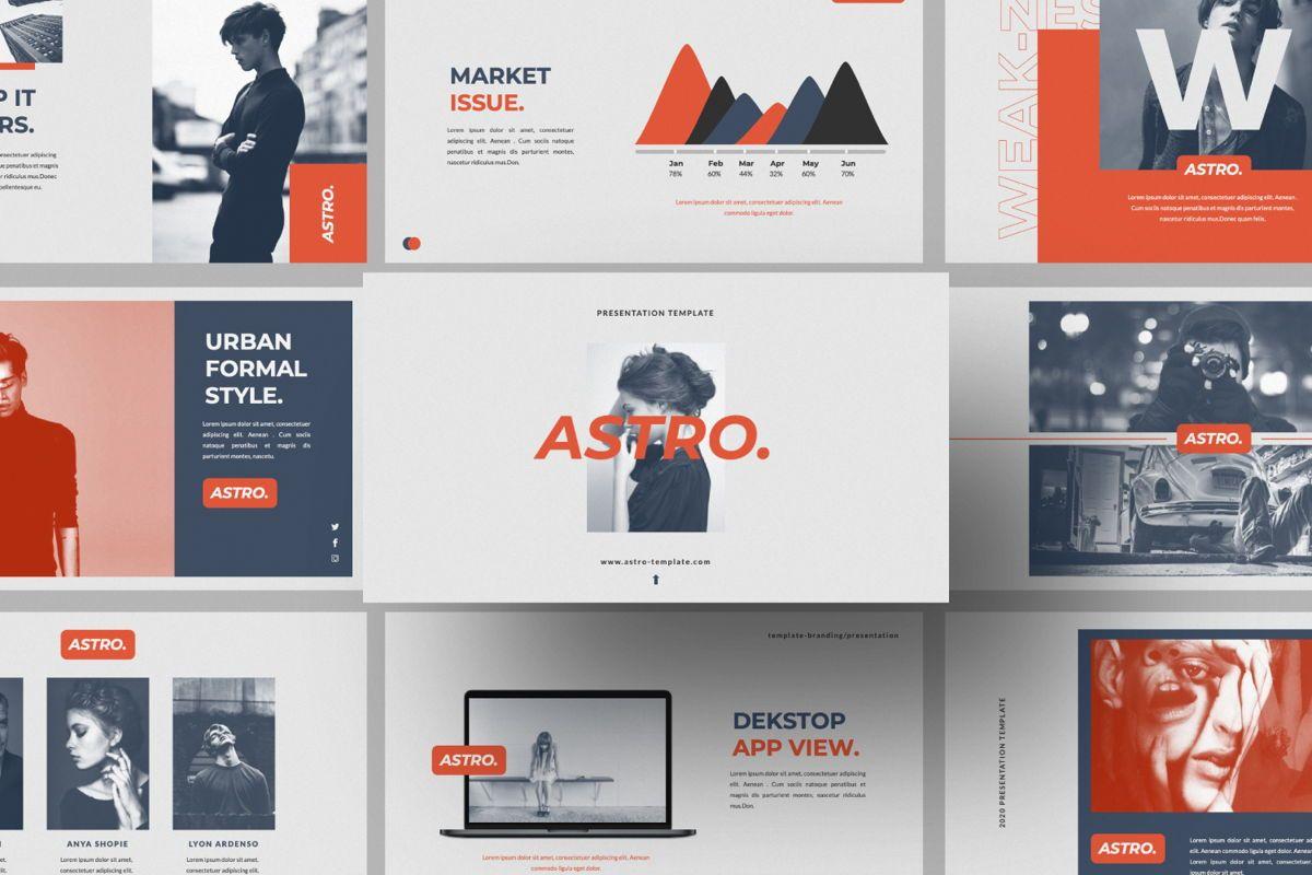 Astro Brand Google Slide, 06053, Presentation Templates — PoweredTemplate.com