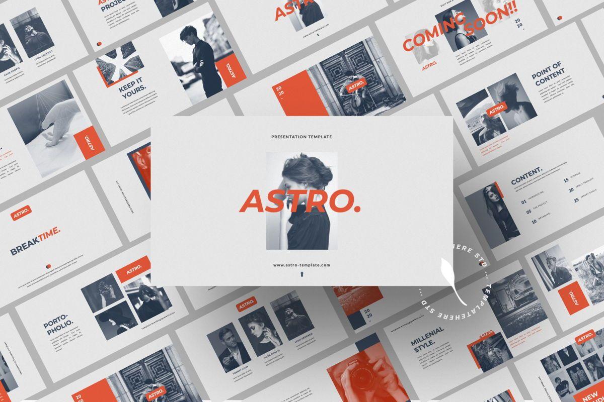 Astro Brand Google Slide, Slide 2, 06053, Presentation Templates — PoweredTemplate.com