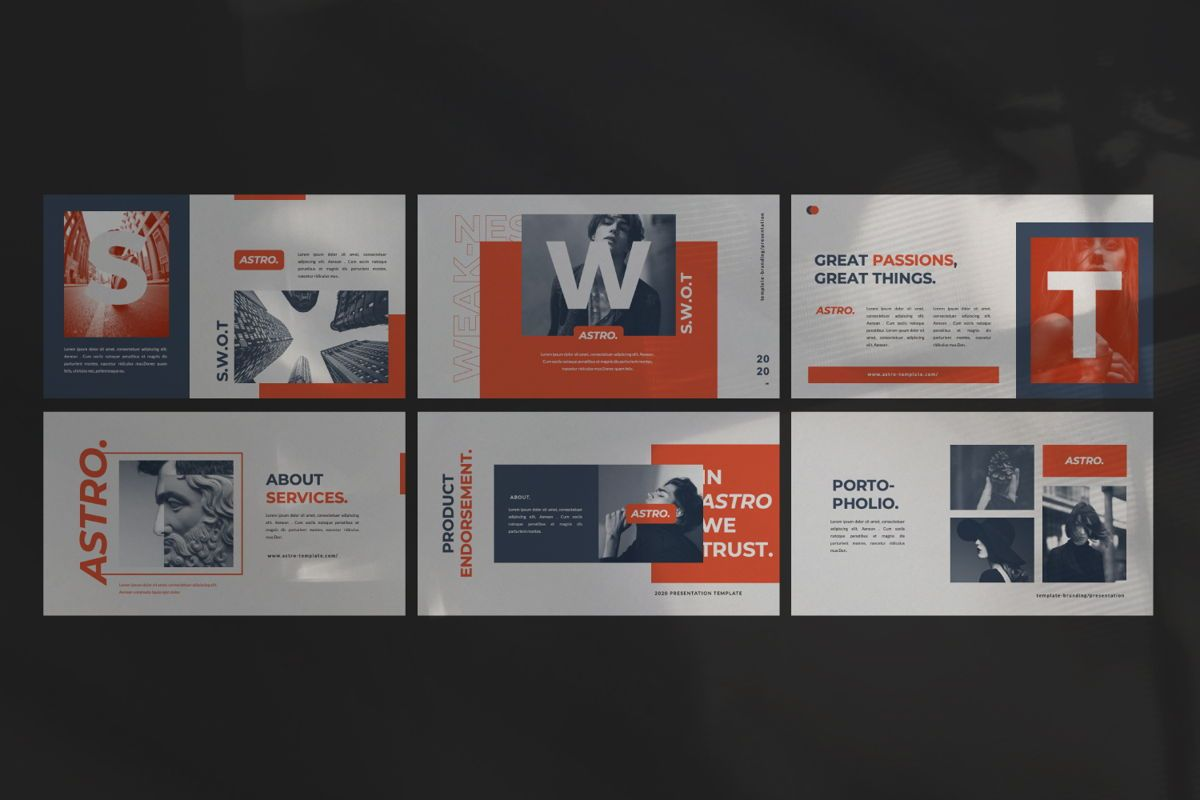Astro Brand Google Slide, Slide 5, 06053, Presentation Templates — PoweredTemplate.com