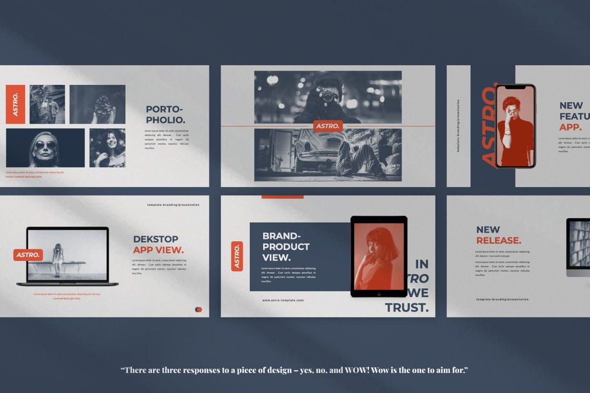 Astro Brand Google Slide, Slide 6, 06053, Presentation Templates — PoweredTemplate.com