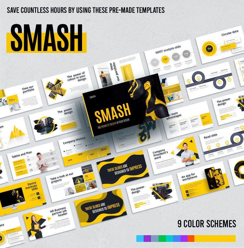 Smash PowerPoint Template, 06055, Business Models — PoweredTemplate.com