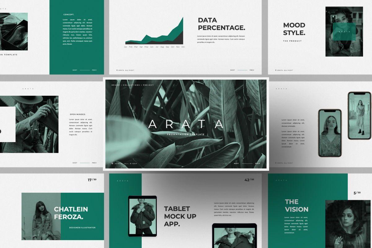 Arata Creative Brand Google Slide, 06058, Presentation Templates — PoweredTemplate.com