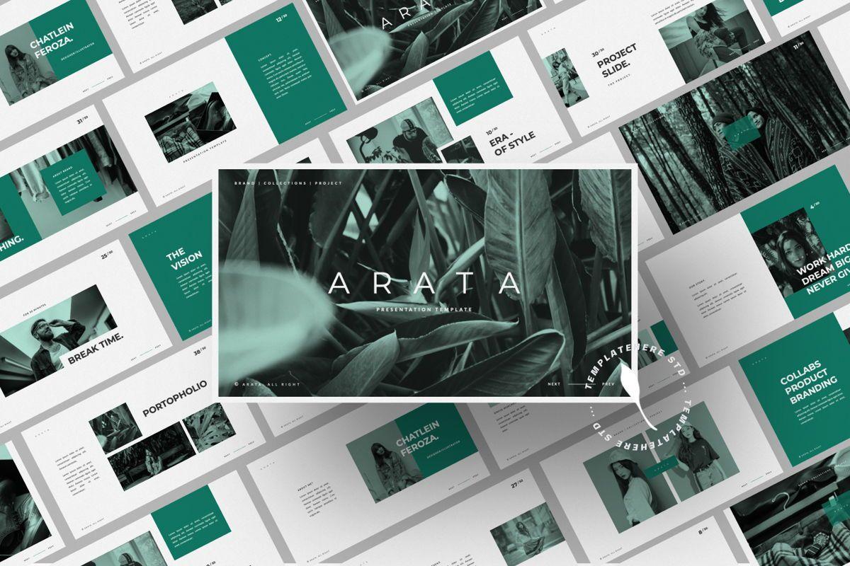 Arata Creative Brand Google Slide, Slide 12, 06058, Presentation Templates — PoweredTemplate.com