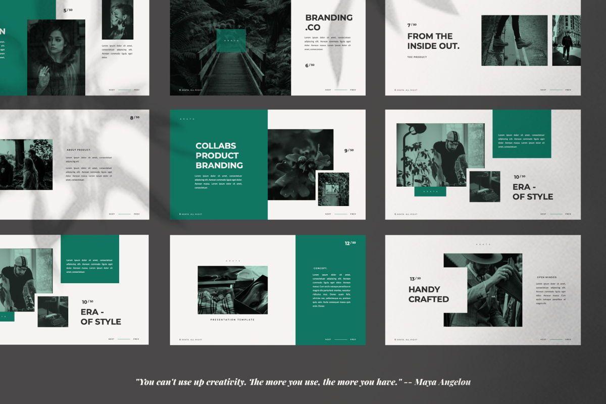 Arata Creative Brand Google Slide, Slide 2, 06058, Presentation Templates — PoweredTemplate.com