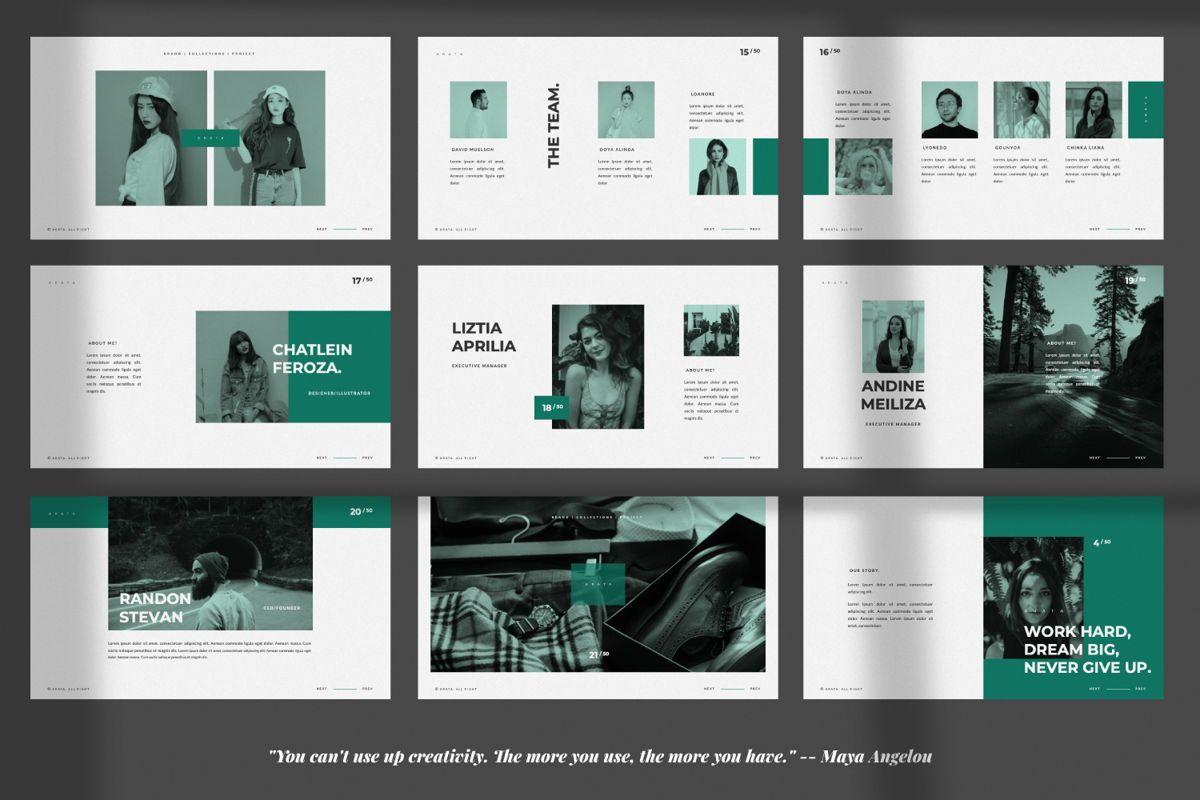 Arata Creative Brand Google Slide, Slide 3, 06058, Presentation Templates — PoweredTemplate.com