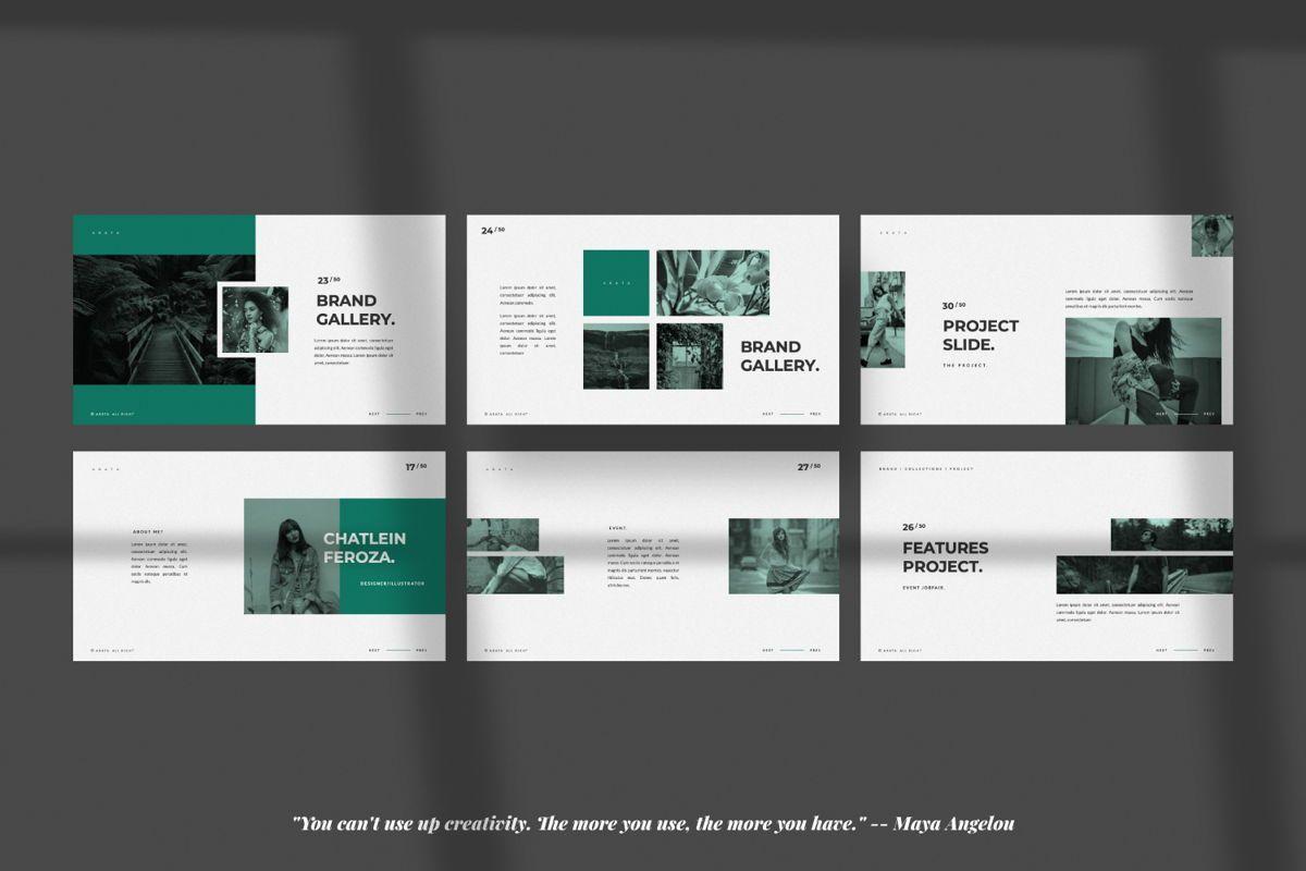 Arata Creative Brand Google Slide, Slide 4, 06058, Presentation Templates — PoweredTemplate.com