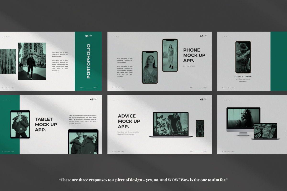 Arata Creative Brand Google Slide, Slide 6, 06058, Presentation Templates — PoweredTemplate.com