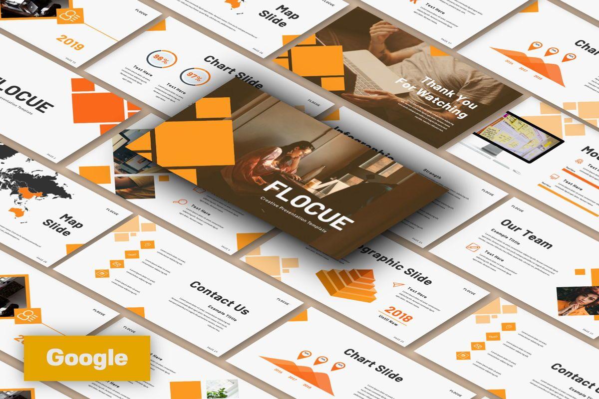 Flocue Creative Google Slide, 06060, Presentation Templates — PoweredTemplate.com