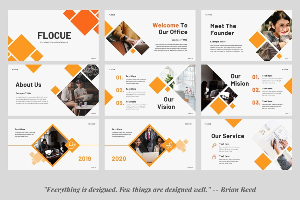 Flocue Creative Google Slide, Slide 2, 06060, Presentation Templates — PoweredTemplate.com