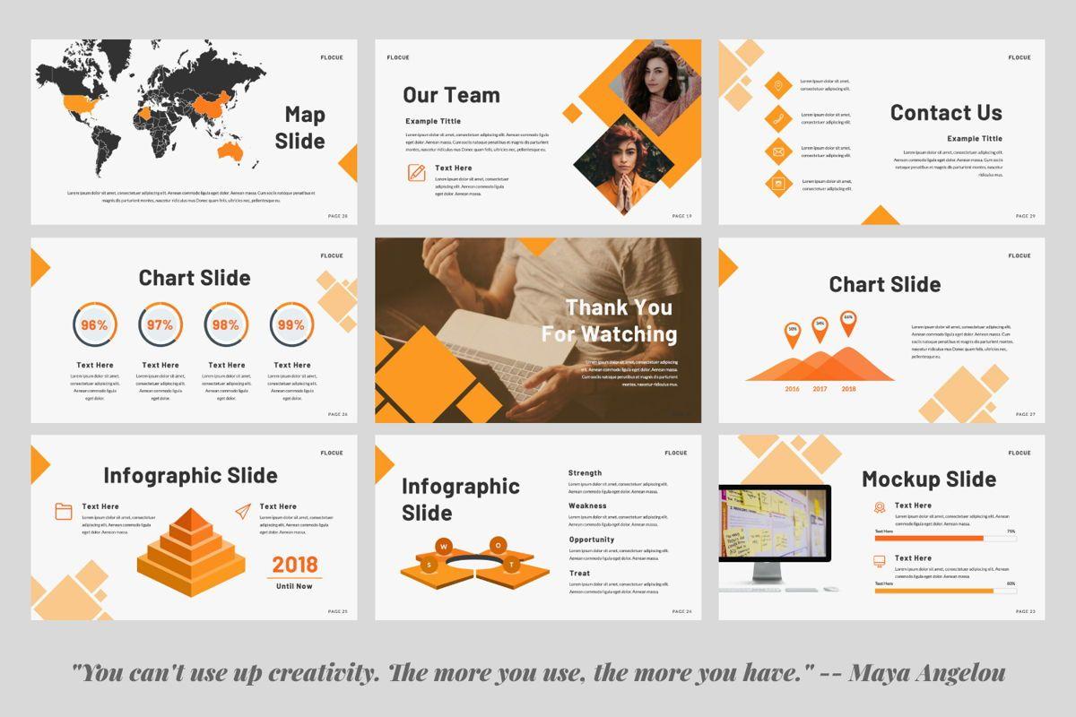 Flocue Creative Google Slide, Slide 3, 06060, Presentation Templates — PoweredTemplate.com