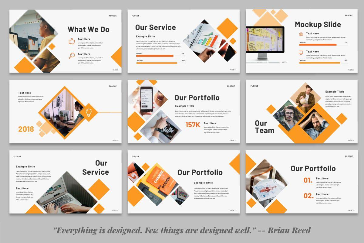 Flocue Creative Google Slide, Slide 4, 06060, Presentation Templates — PoweredTemplate.com