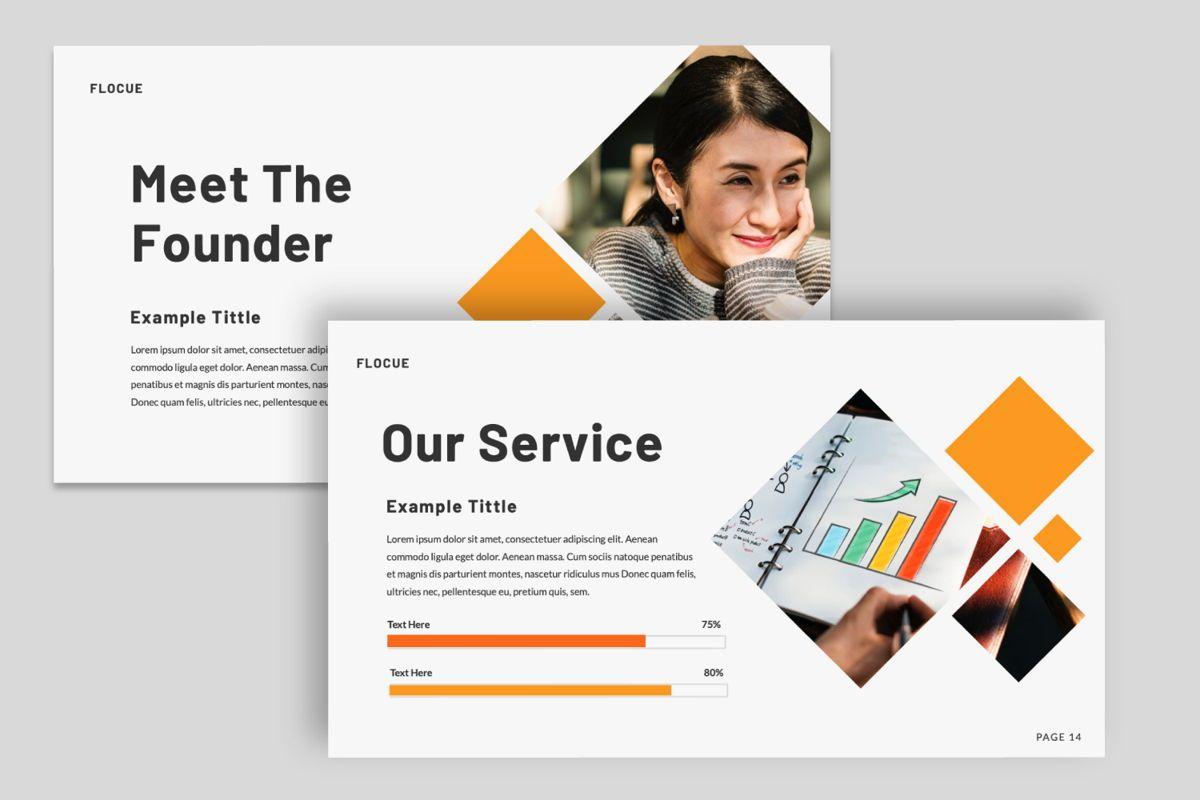 Flocue Creative Google Slide, Slide 5, 06060, Presentation Templates — PoweredTemplate.com