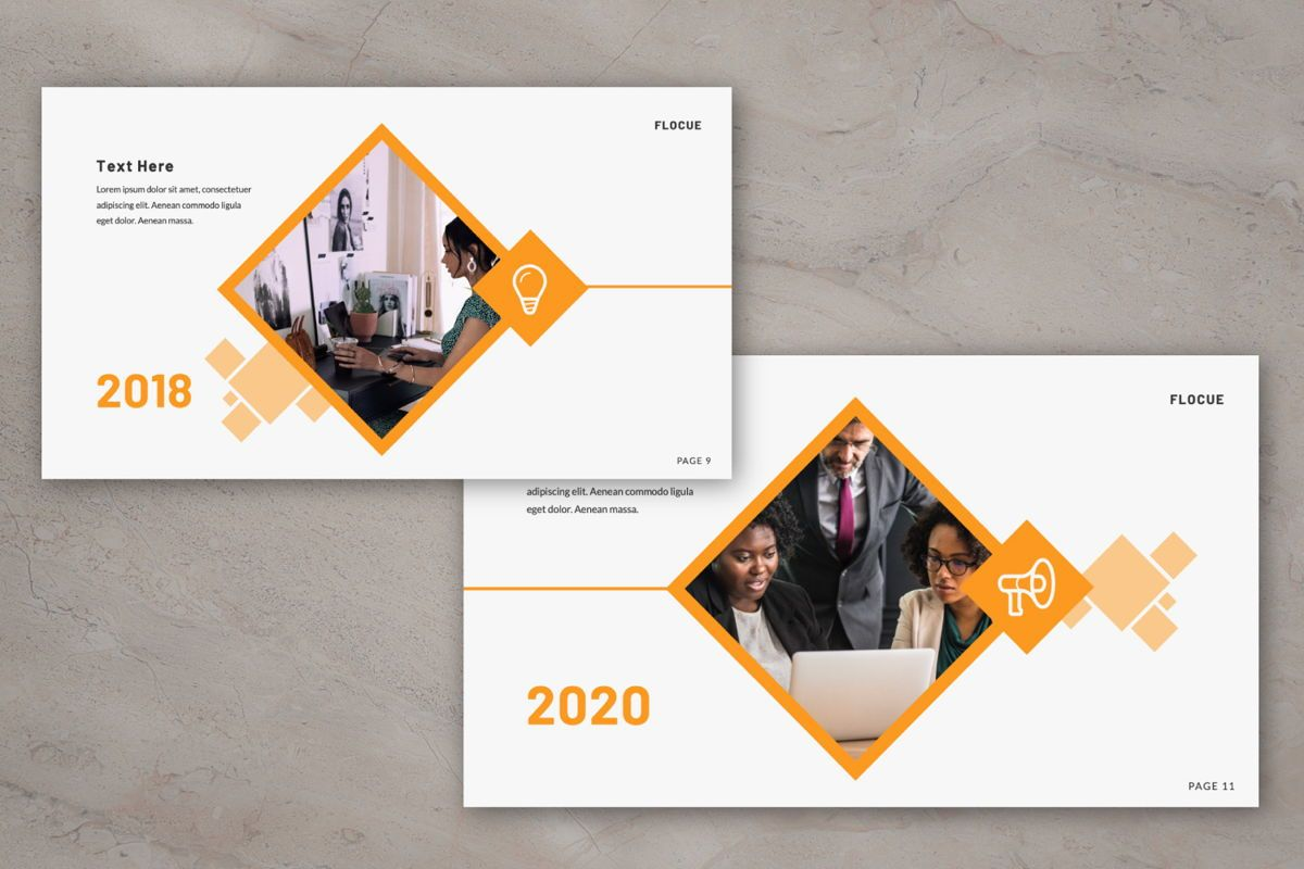 Flocue Creative Google Slide, Slide 7, 06060, Presentation Templates — PoweredTemplate.com