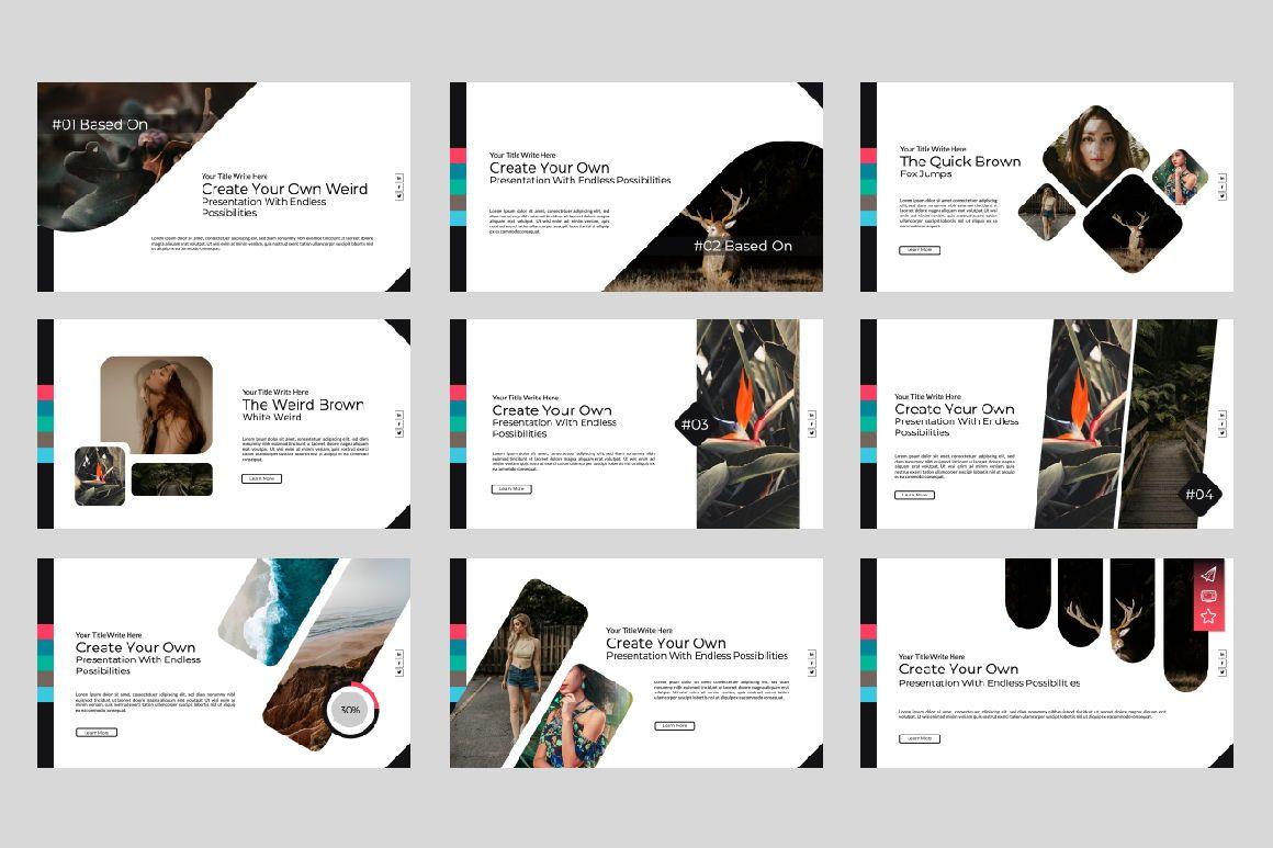 Weird Business Keynote, Slide 7, 06062, Presentation Templates — PoweredTemplate.com