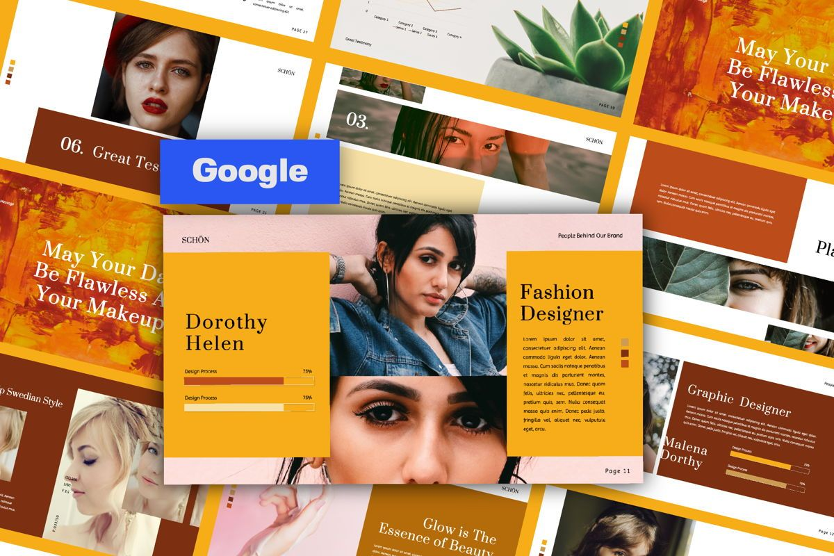 Schon Creative Google Slide, 06065, Presentation Templates — PoweredTemplate.com