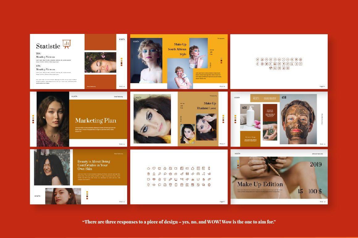 Schon Creative Google Slide, Slide 3, 06065, Presentation Templates — PoweredTemplate.com