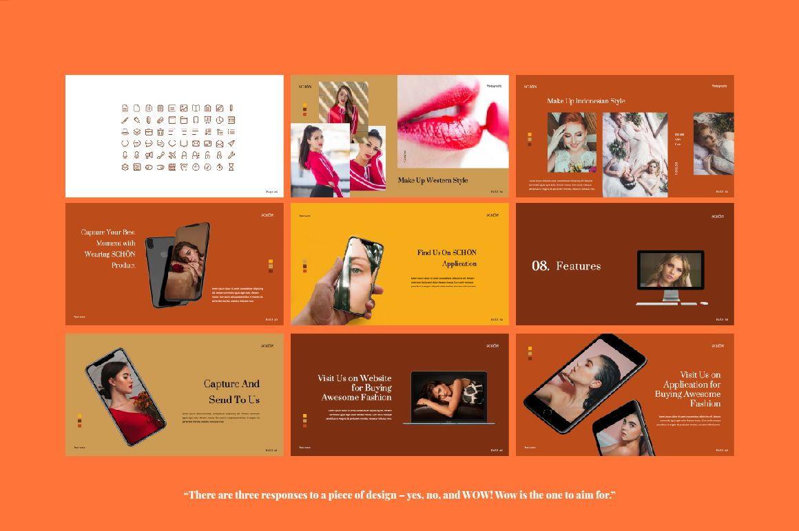 Schon Creative Google Slide, Slide 5, 06065, Presentation Templates — PoweredTemplate.com