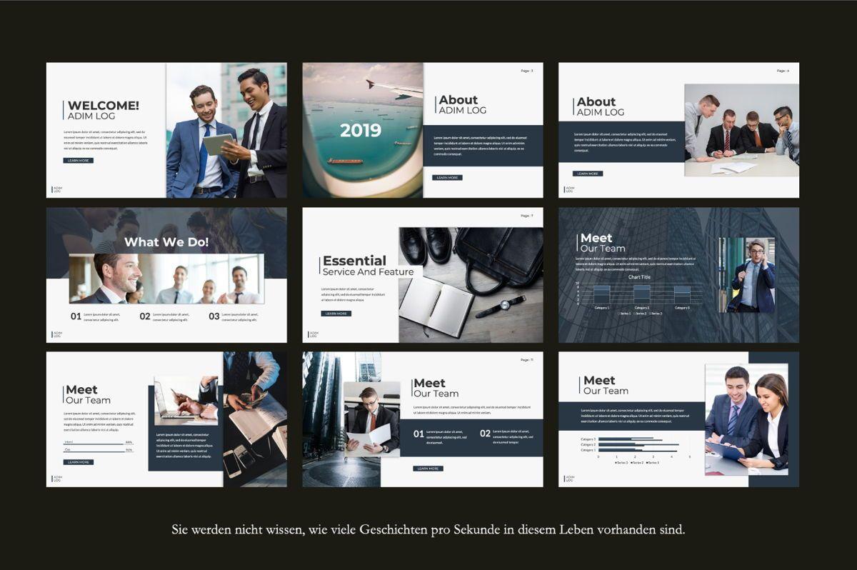 Adim Log Business Google Slide, Slide 2, 06070, Presentation Templates — PoweredTemplate.com