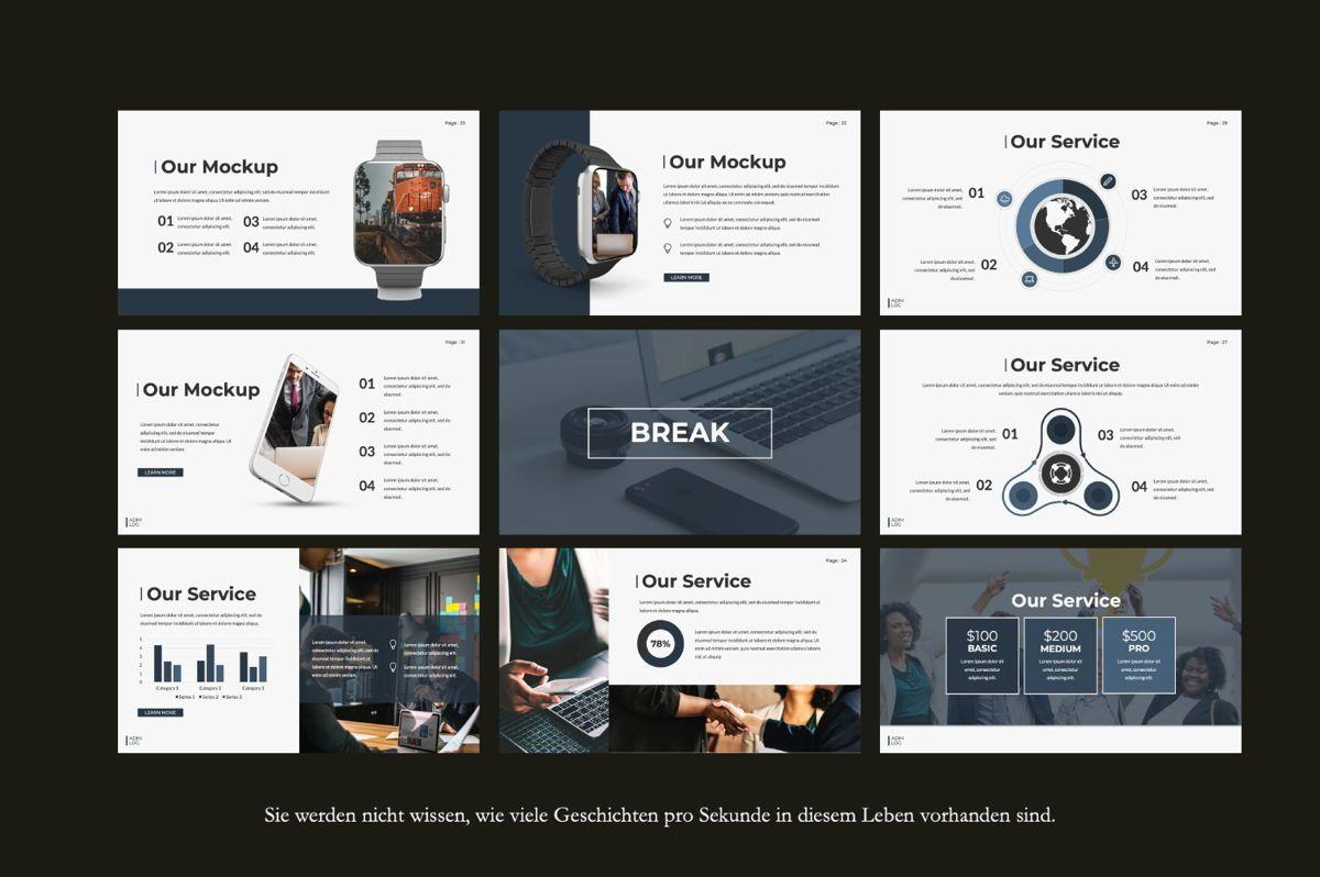 Adim Log Business Google Slide, Slide 3, 06070, Presentation Templates — PoweredTemplate.com