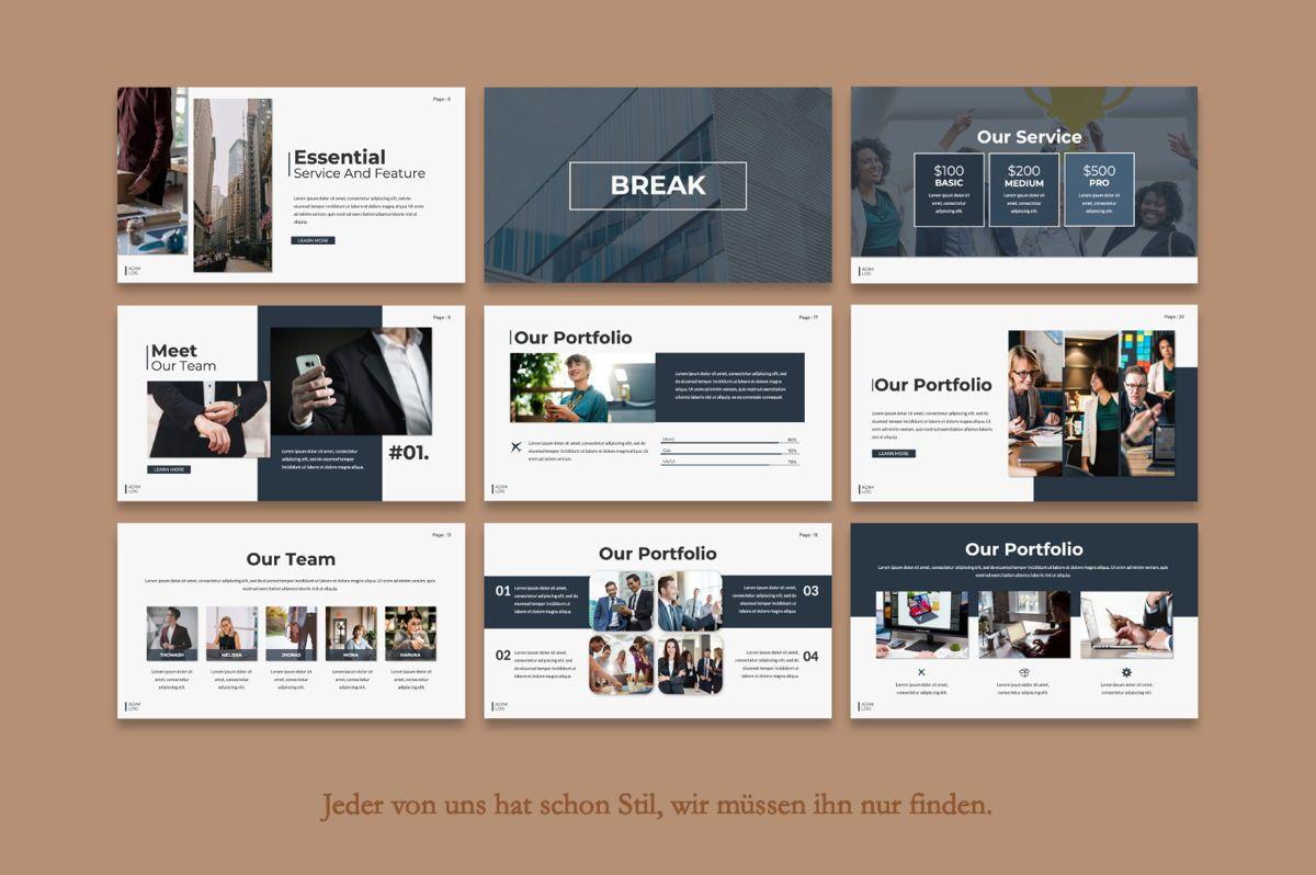 Adim Log Business Google Slide, Slide 4, 06070, Presentation Templates — PoweredTemplate.com