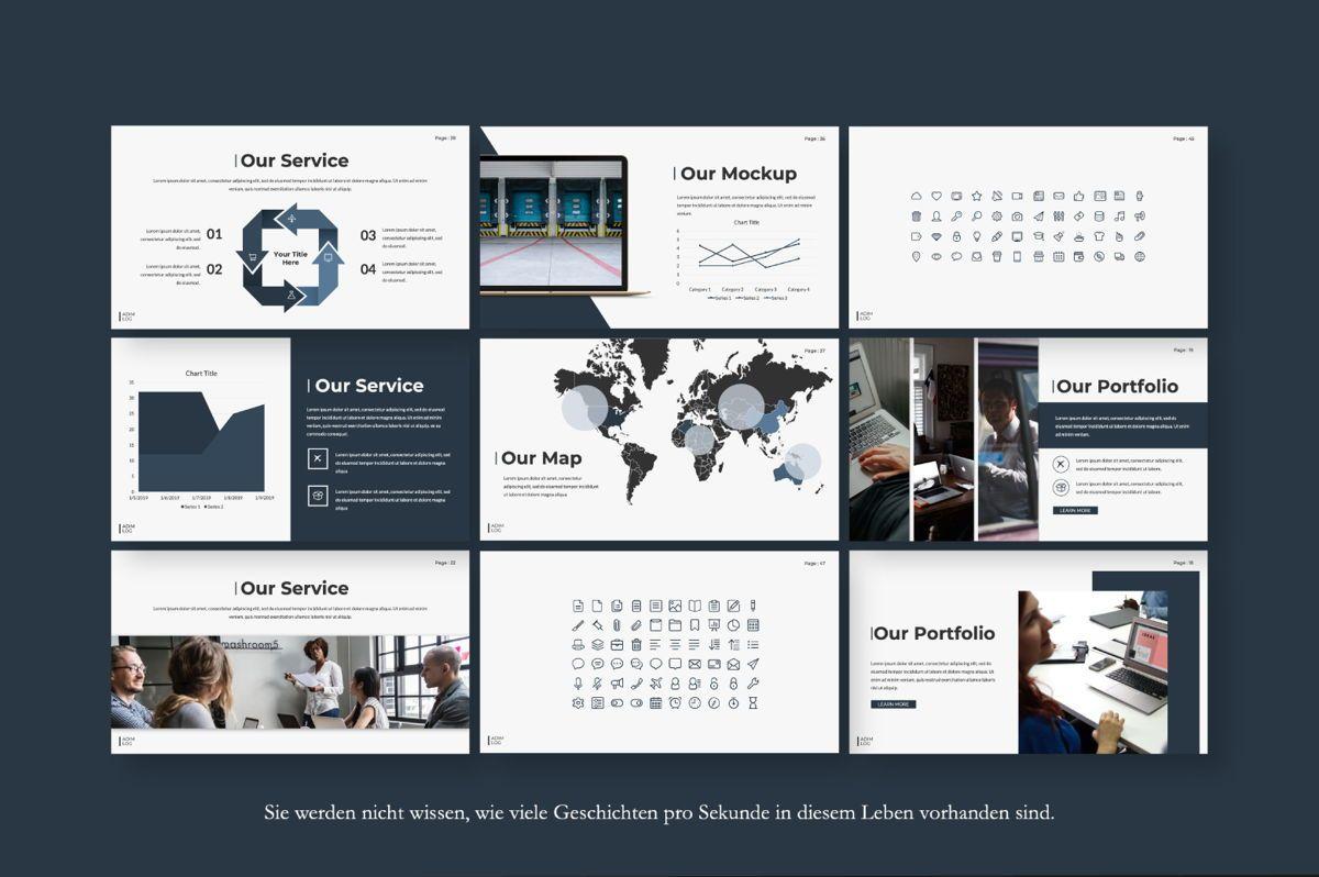 Adim Log Business Google Slide, Slide 5, 06070, Presentation Templates — PoweredTemplate.com