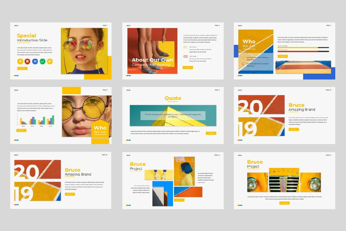 Bruce Creative Powerpoint, Slide 2, 06071, Presentation Templates — PoweredTemplate.com