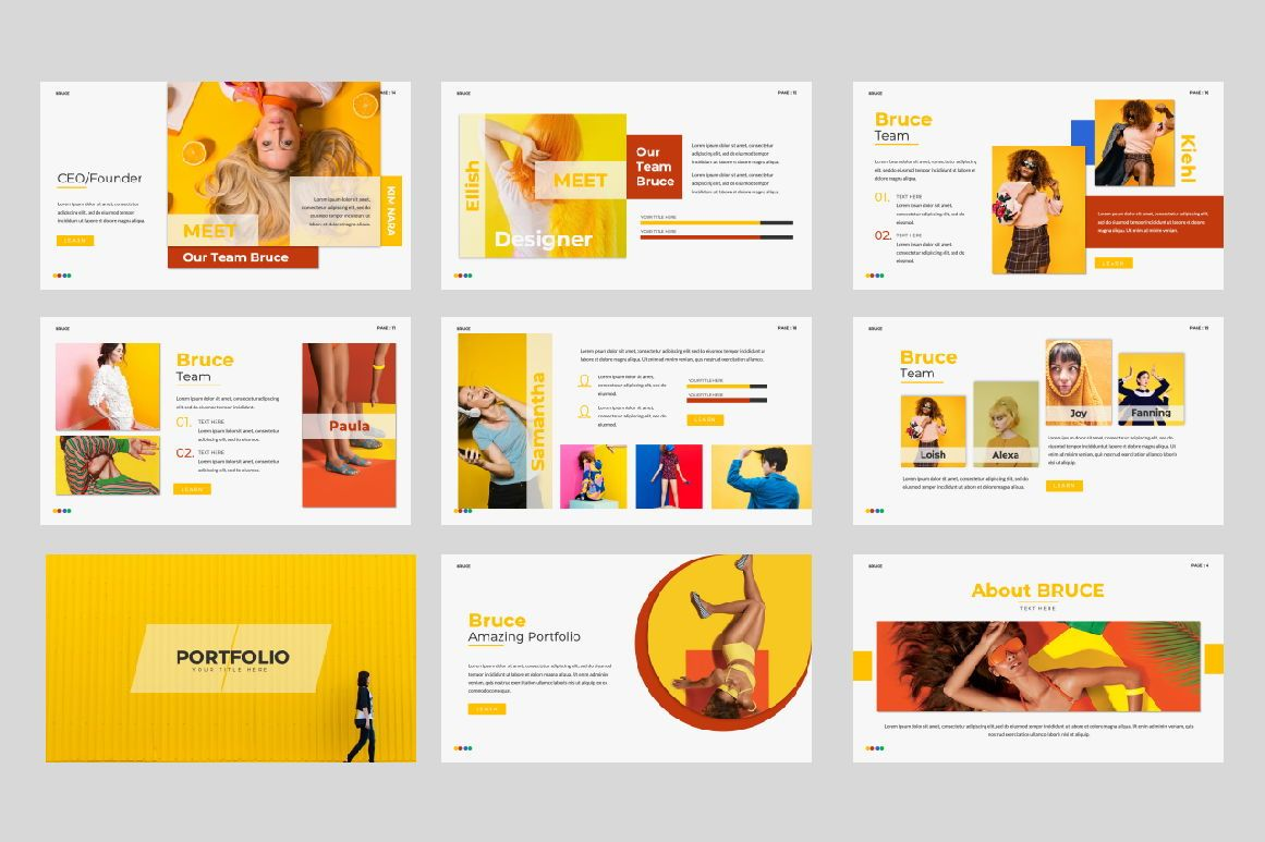 Bruce Creative Powerpoint, Slide 3, 06071, Presentation Templates — PoweredTemplate.com