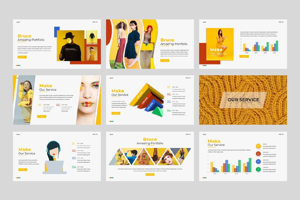 Bruce Creative Powerpoint, Slide 4, 06071, Presentation Templates — PoweredTemplate.com