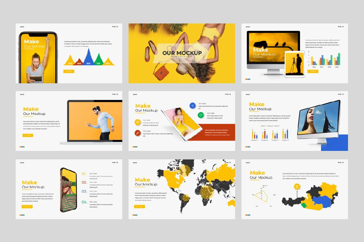 Bruce Creative Powerpoint, Slide 5, 06071, Presentation Templates — PoweredTemplate.com
