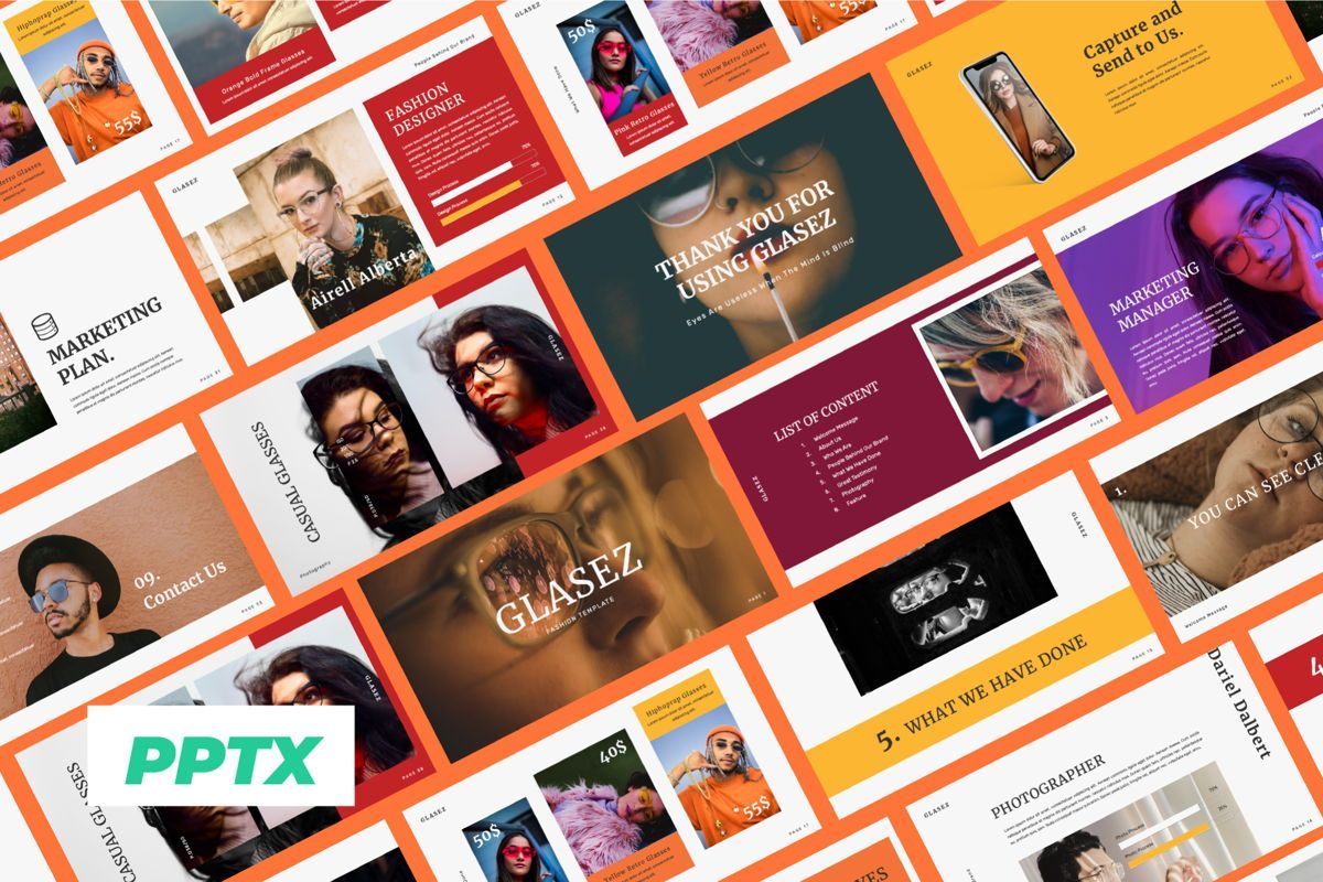 Glasez Creative Powerpoint, 06074, Presentation Templates — PoweredTemplate.com