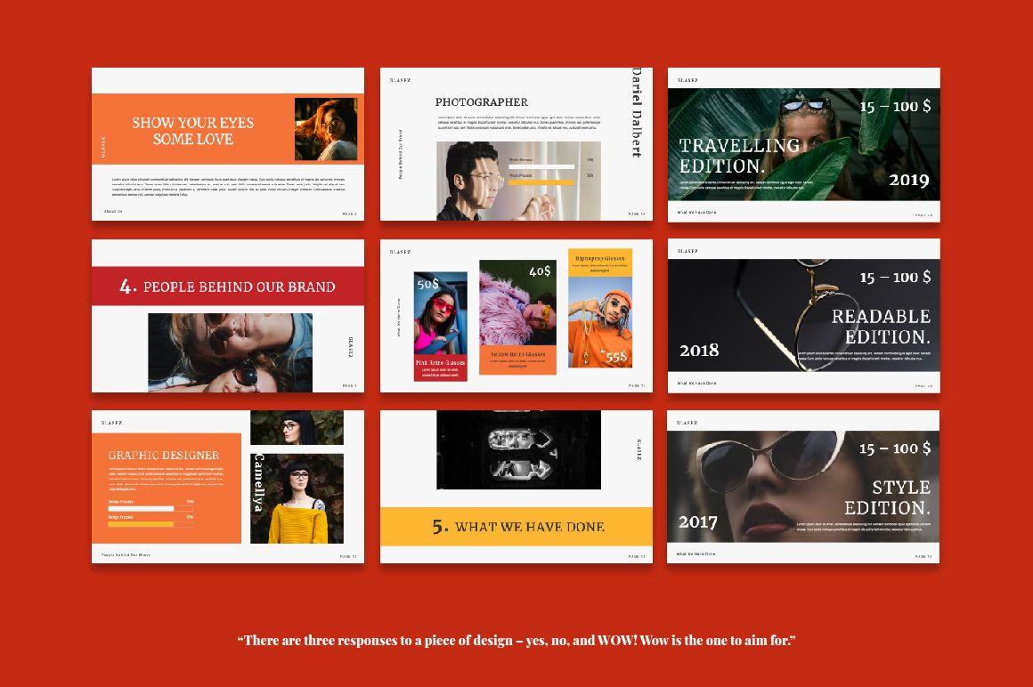 Glasez Creative Powerpoint, Slide 4, 06074, Presentation Templates — PoweredTemplate.com