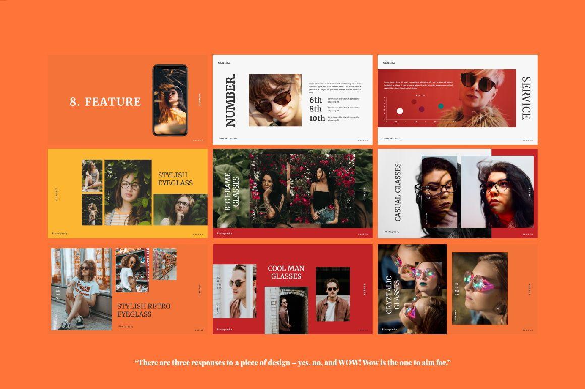 Glasez Creative Powerpoint, Slide 5, 06074, Presentation Templates — PoweredTemplate.com